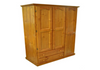 MUDGEE (AUSSIE MADE) UTILITY WARDROBE WITH 3 DOORS & 2 DRAWERS -1800(H) X  1300(W) - ASSORTED COLOURS