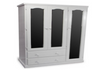 URBAN (AUSSIE MADE) FLAT TOP UTILITY WARDROBE WITH 2 DRAWERS & 3 MIRRORED DOORS - 1800(H) X 1300(W) - PAINTED COLOURS