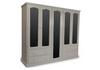 MUDGEE (AUSSIE MADE) 2 PIECE MULTIROBE WITH 5 MIRRORED DOORS - 1800(H) X 2000(W)  - WHITE OR ANTIQUE WHITE OR WHITEWASH