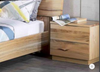 BUENO  HARDWOOD 2 DRAWERS BEDSIDE TABLES - (MODEL-1-19-20-9-14-1) - NATURAL
