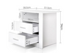 GLASSGOGH 2 DRAWER ANTI-SCRATCH BEDSIDE TABLE - WHITE