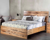 KING  ATLANTA HARDWOOD PANEL BED -  (MODEL-1-12-9-14-7-1) - AS PICTURED