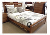QUEEN TAMILA HARDWOOD BED FRAME - (MODEL:19-20-1-18-11) - AS PICTURED