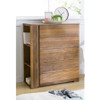 YARRA SOLID WOOD TALLBOY CHEST WITH 5 DRAWERS AND BOOKSHELF - AS PICTURED