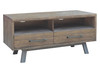PATERSON SMALL ENTERTAINMENT - TV UNIT WITH 2 DRAWERS - 1850(W) - HERITAGE WHARF