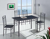 ARLINGTON 5 PIECE DINING SETTING (MODEL:9194) WITH 1200(L) x 700(W) TABLE WITH 4 x CHAIRS - BLACK