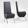 ESON (M237)  LEATHERETTE DINING CHAIR - WHITE (PICTURED IN BLACK)