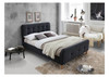 QUEEN BRAYNON FABRIC BED FRAME (2-18-1-25-4-5-14)  DARK GREY