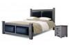 MONACO  QUEEN 3 PIECE BEDSIDE BEDROOM SET (MODEL:11-1-19-8-13-9-18) - BLACK-BROWN
