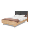 EVERTON   QUEEN 3 PIECE BEDROOM SET- BED  WITH  PADDED HEADBOARD - (MODEL:13-1-18-12-5-25) - CHARCOAL /NATURAL