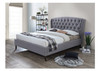 DOUBLE OXFORD WINGED FABRIC BED FRAME - GREY