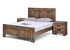 LAILA  DOUBLE  4 PIECE  TALLBOY  BEDROOM SUITE (MODEL-2-15-19-20-15-14) - RUSTIC FINISH