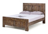 DOUBLE LAILA RECYCLED  PANEL BED FRAME (MODEL-2-15-19-20-15-14) - RUSTIC FINISH