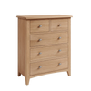 DOUBLE OR QUEEN ELEGANCE 4 PIECE TALLBOY OAK BEDROOM SUITE - (7-1-15) - LIGHT OAK