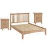 ELEGANCE  QUEEN 3  PIECE BEDSIDE OAK BEDROOM SUITE -(7-1-15) - LIGHT OAK