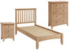 ELEGANCE  SINGLE 3  PIECE TALLBOY OAK BEDROOM SUITE -(7-1-15) - LIGHT OAK