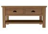 EMINENCE 2 DRAWER OAK COFFEE TABLE  (18-1-15) - 450(H) X 900(W) - RUSTIC OAK