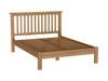 DOUBLE EMINENCE OAK BED FRAME (18-1-15) - RUSTIC OAK