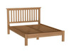 QUEEN EMINENCE OAK BED FRAME (18-1-15) - RUSTIC OAK