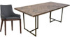 COUNTRY 9 PIECE DINING SETTING WITH 2100(L) X 1000(W) TABLE (18-15-13-1)- GREY/OAK