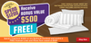 Bonus Package 1: Luxury Linen Pack: Aussie Made Sateen Pillows , 1000 Thread Count Sheet Set (Any Size) +++ Fully Fitted Mattress Protector (Valued at $500)