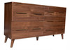 CELESTINE 5 DRAWERS DRESSER TABLE - WALNUT