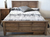 DOUBLE NARRABEEN PANEL BED (14-15-15-20-21-18-5) - BALTIC (#215) OR WALNUT (#219) OR GREYWASH (#501)