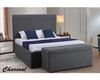 DOUBLE ALEXA FABRIC GAS LIFT BED - ASSORTED COLOURS