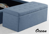 ALEXA UPHOLSTERED FABRIC STORAGE STORAGE BOX - 900(W) - ASSORTED COLOURS
