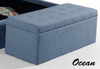 ALEXA UPHOLSTERED FABRIC STORAGE STORAGE BOX - 1500(W) - ASSORTED COLOURS