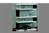 ZEBRA LARGE SHELF DISLAY UNIT / BOOKCASE - 1650(H) X 1200(W)  - HIGH GLOSS WHITE / BLACK