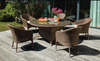 CLAYFORD OUTDOOR DINING SETTING WITH 1580(L) ROUND GLASS TOP TABLE