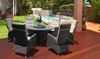 BEXLEY OUTDOOR RECLINER LOUNGE SETTING WITH 1400(L) ROUND GLASS TOP TABLE