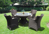 BRENTFORD OUTDOOR RECLINER LOUNGE SETTING WITH 1200(L) ROUND GLASS TOP TABLE