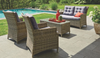 DRAYTON OUTDOOR LOUNGE SETTING WITH 1200(L) GLASS TOP TABLE
