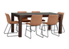 CUMBERLAND 9 PIECE DINING WITH CINCINNATI CHAIR - AGE BARLEY OR  ANTIQUE WALNUT