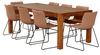CUMBERLAND 2100L DINING TABLE - AGE BARLEY OR  ANTIQUE WALNUT