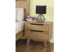 ATMORE 2 DRAWER BEDSIDE TABLE -580(H) x 600(W) - NATURAL