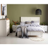 DOUBLE BESSEMER TIMBER BED FRAME - WHITE