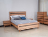 BIRMINGHAM KING 4 PIECE (TALLBOY) BEDROOM SUITE - RUSTIC OAK