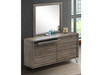 COLORADO 6 DRAWER DRESSING TABLE WITH MIRROR - AS PICTURED