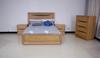 KING GREENVILLE TIMBER BED FRAME - NATURAL OAK