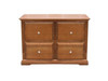 ASHTON 4 DRAWER FILING CABINET 750(H) x 1060(W) - ALMOND & COTTAGE TEAK STAIN