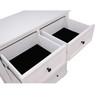 CHANELLE 6 DRAWER TOP SPLIT TALLBOY - 1250(H) x 950(W) - WHITE