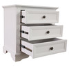 AUSTIN 3 DRAWER BEDSIDE TABLE - 705(H) x 710(W) - WHITE