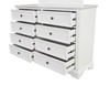 AUSTIN 8 DRAWER DRESSING TABLE 1000(H) x 1500(W) WITH MIRROR - WHITE