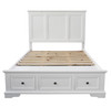 KING 5 AUSTIN PIECE (DRESSER) BEDROOM SUITE - WHITE