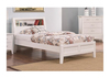 DOUBLE CHESTER TIMBER BED - WHITE