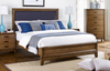 DOUBLE CLOVIS TIMBER BED - AS PICTURED
