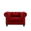 CHESTERFIELD ARMCHAIR - VELLUTO LUXE RED